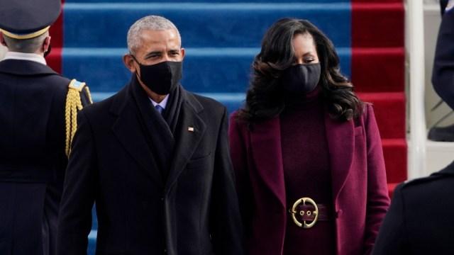 Barack y Michelle Obama en la ceremonia de investidura de Biden