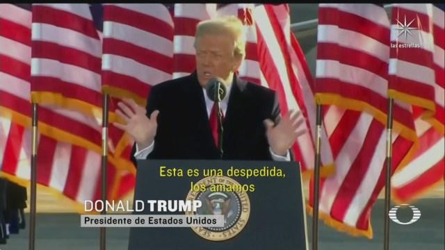 Trump se despide con discurso inquietante; Biden se convierte en el 46 presidente de Estados Unidos