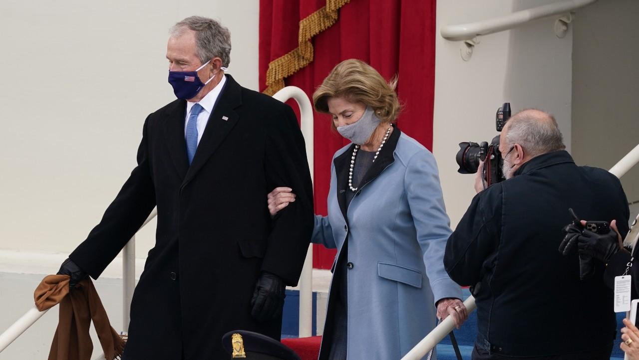 Expresidentes llegan a ceremonia de Biden