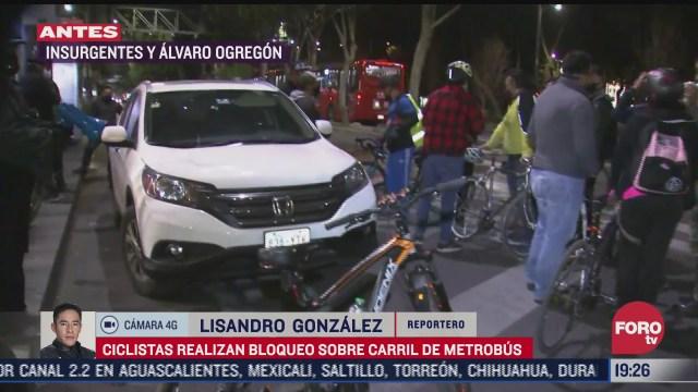 ciclistas bloquean avenida insurgentes en cdmx