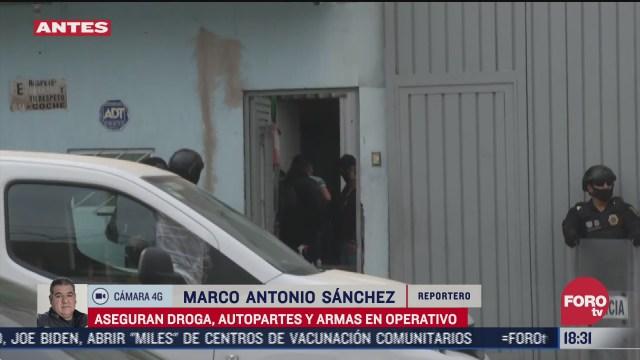 concluye operativo en la alcaldia iztapalapa donde se decomisaron autopartes y drogas