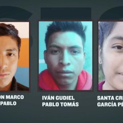 Cristina, Marco e Iván, salieron de Guatemala rumbo a EEUU y ahora podrían estar calcinados
