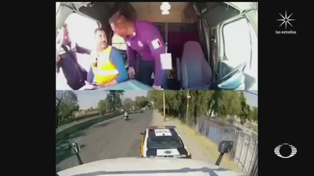 difunden video de como policias de transito de cuautitlan izcalli roban y golpean a trailero