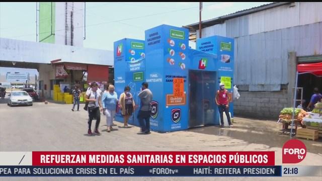 diversos estados de mexico refuerzan las medidas sanitarias en espacios publicos