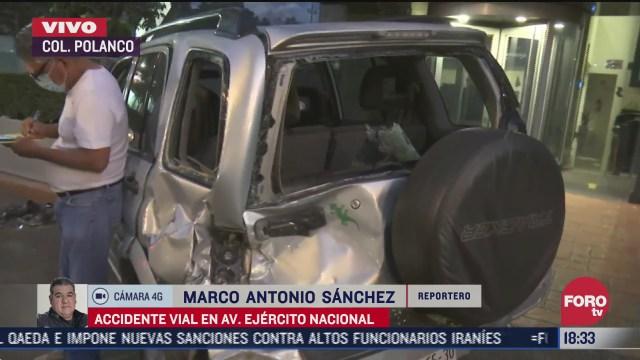 dos camionetas tienen aparatoso accidente en ejercito nacional