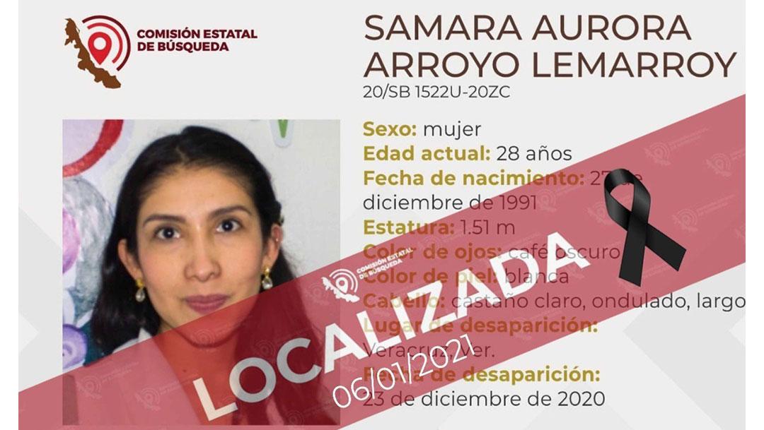 Tras haber sido reportada como desaparecida, Samara una nutrióloga del IMSS, fue encontrada en el domicilio de su presunto homicida