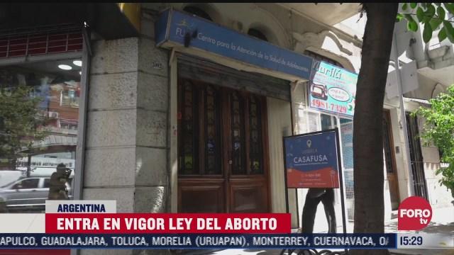 entra en vigor la ley del aborto en argentina