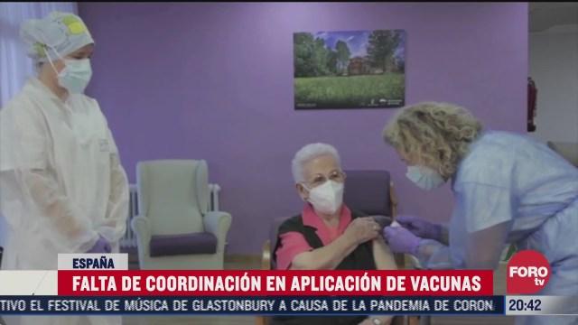 falta de coordinacion en aplicacion de vacunas covid 19 en espana