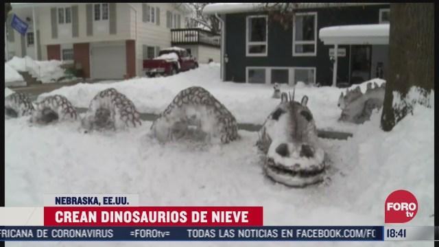familia crea dinosaurios de hielo en eeuu