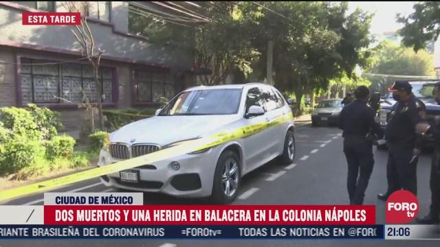 fgj investiga asesinato de dos hombres en colonia napoles