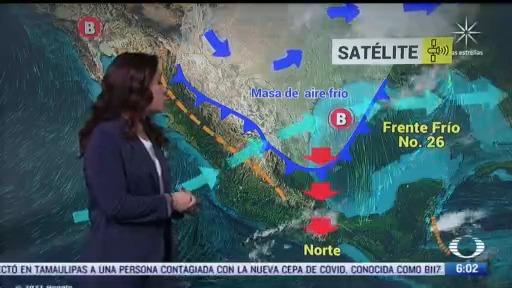 frente frio 26 mantendra bajas temperaturas en gran parte de mexico