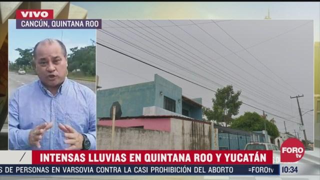 frente frio 32 causa lluvias en quintana roo y yucatan
