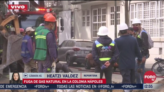 fuga de gas natural en la colonia napoles cdmx