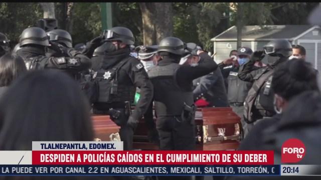 homenaje a policias muertos en tlalnepantla