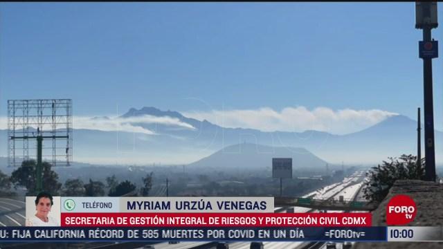 incendio en volcan iztaccihuatl esta siendo controlado proteccion civil de cdmx