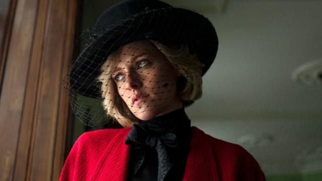 Foto cedida por Premiercomms de Kristen Stewart como Lady Di.