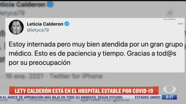 leticia calderon hospitalizada por covid