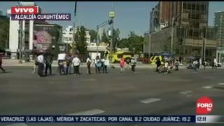 manifestantes bloquean avenida insurgentes y paseo de la reforma cdmx