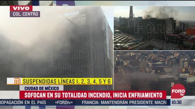 mas de 5 horas bomberos trabajaron para sofocar incendio en instalaciones del metro