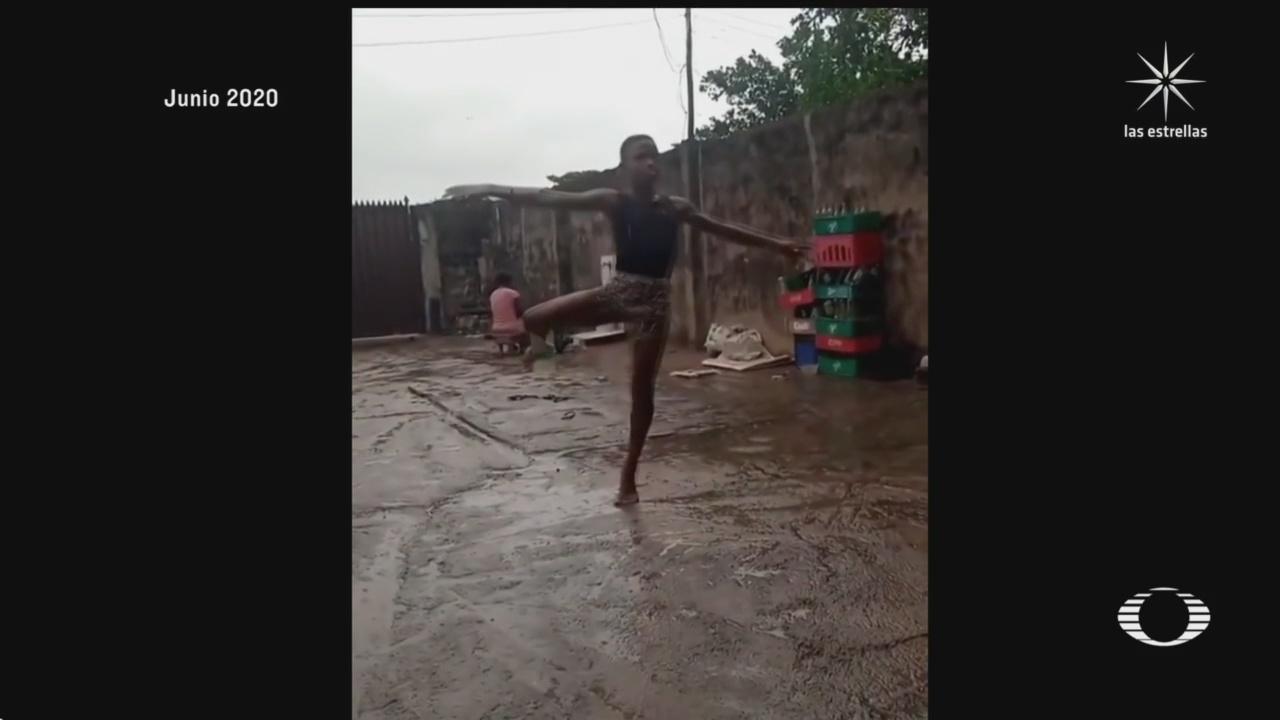 menor nigeriano estudia gratuitamente en la academia leap of dance