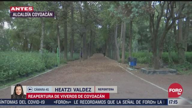 parque viveros de coyoacan reabre sus puertas tras cierre por covid