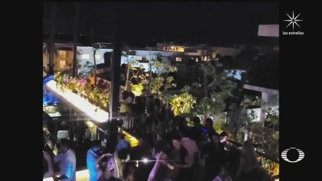 playas y destinos turisticos de mexico abarrotados en pleno confinamiento