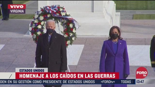 presidente joe biden deposita ofrenda floral al soldado desconocido