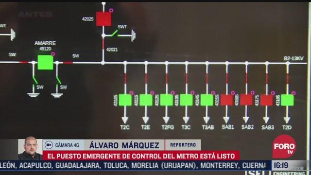 puesto emergente de control del metro esta listo