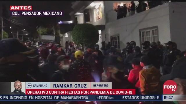 realizan operativos contra fiestas en colonia pensador mexicano