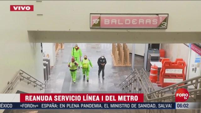 reanuda servicio la linea 1 del metro cdmx tras incendio