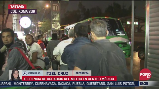 reportan gran afluencia de personas en metro centro medico