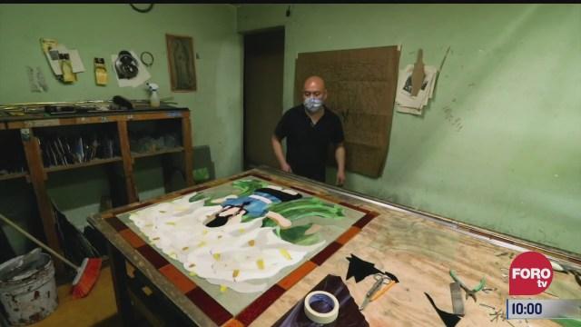 retratos de mexico elaboracion de vitrales