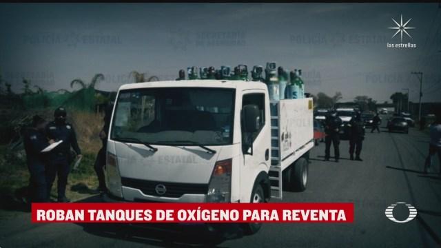 roban camion que transportaba 40 tanques de oxigeno en coacalco estado de mexico