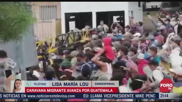 se atora caravana migrante en guatemala