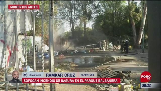 se registra conato de incendio en parque balvanera cdmx