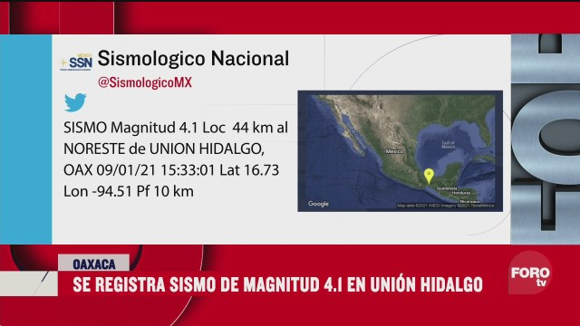 se registra sismo magnitud 4 1 en oaxaca