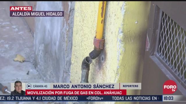 se registra una fuga de gas en la colonia anahuac de cdmx