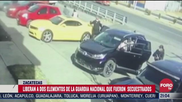 Secuestro de elementos de la Guardia Nacional en Zacatecas