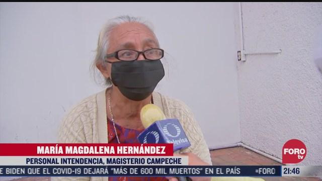 segundo dia de vacunacion contra el covid 19 a docentes de campeche