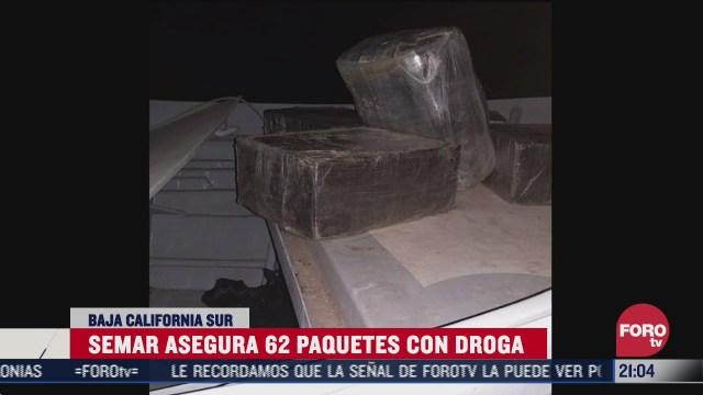 semar decomisa 62 paquetes de droga