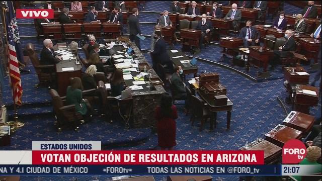 senado de eeuu rechaza objecion de resultados en arizona