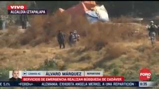 servicios de emergencia realizan busqueda de cadaver en iztapalapa