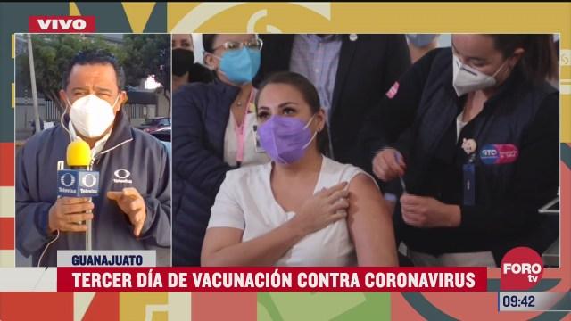 tercer dia de vacunacion contra covid 19 en guanajuato