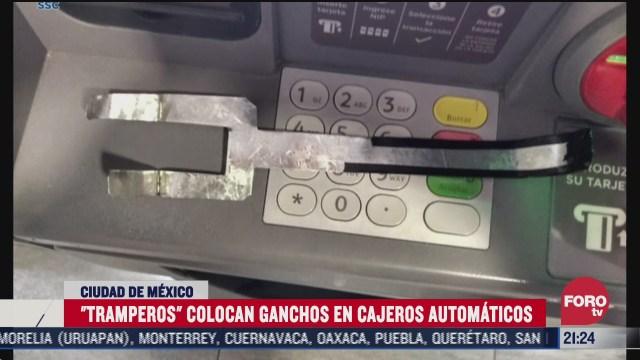 tramperos roban dinero de cajeros automaticos