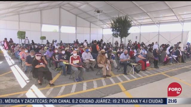10 sedes de vacunacion reciben a adultos mayores en ecatepec