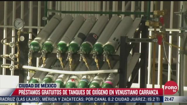 alcaldia venustiano carranza presta tanques de oxigeno a sus habitantes