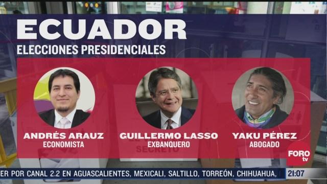 andres arauz aventaja en las elecciones presidenciales en ecuador