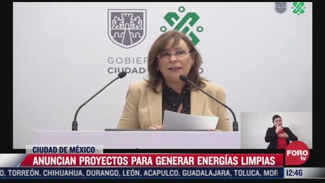 anuncian proyecto de energias limpias en cdmx