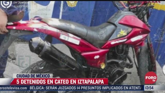 aseguran 120 toneladas de autopartes en iztapalapa hay cinco detenidos