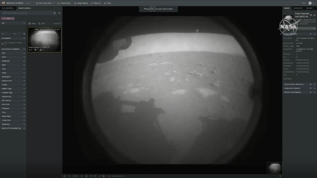 Rover Perseverance-capta-primera-imagen-en-el-suelo-de-Marte